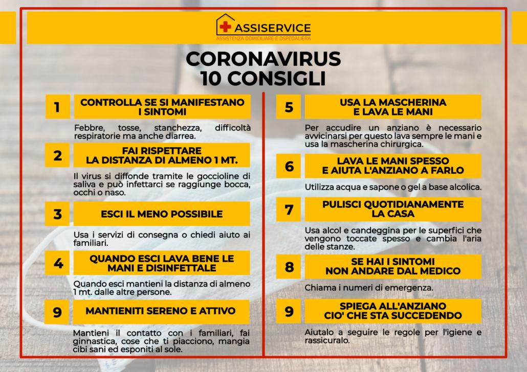 Coronavirus e anziani - I consigli di Assiservice